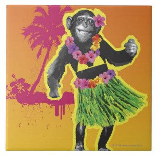 SchimpansHula dans Kakelplatta