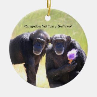 Schimpansprydnad - Annie & Foxie Julgransprydnad Keramik
