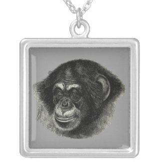 Schimpansslätt Silverpläterat Halsband