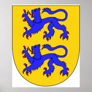 Schleswig ärmar, Danmark Affisch