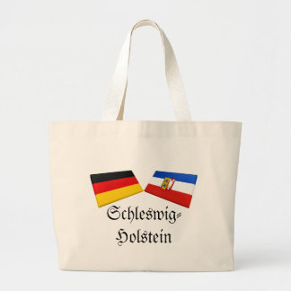 Schleswig-Holstein Tysklandflagga belägger med teg Jumbo Tygkasse