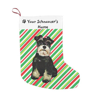 Schnauzerjulstrumpa Small Christmas Stocking