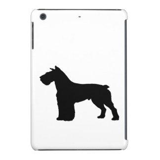 schnauzersilhouette iPad mini cases