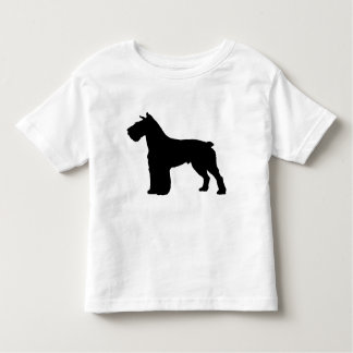 schnauzersilhouette tee shirts