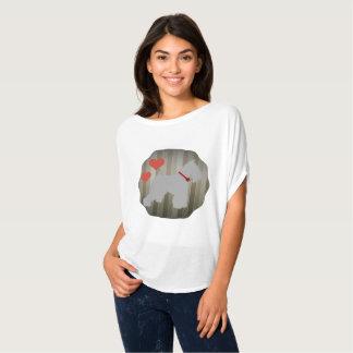 Schnauzerskjorta för grå färg (salta och peppar) tee shirt
