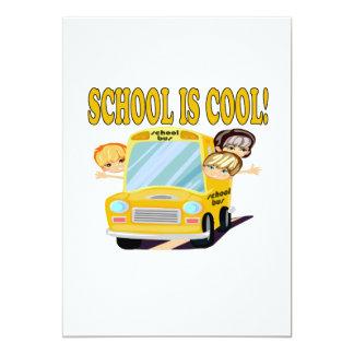 School är coola 2 12,7 x 17,8 cm inbjudningskort