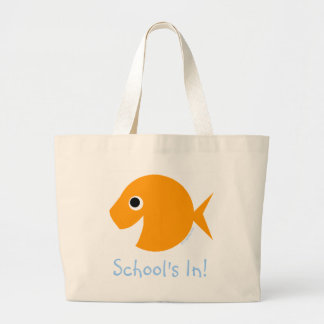 School är I den gulliga tecknadguldfisklärare Jumbo Tygkasse