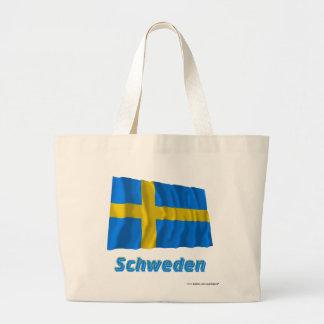 Schweden Fliegende Flagge mit Namen Kasse