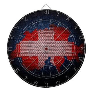 Schweitz flagga och karta piltavla
