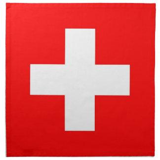 Schweitz flagga på den MoJo servetten Tygservett