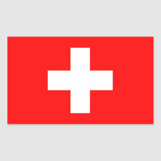 Schweitz flagga rektangulärt klistermärke