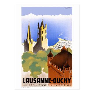 Schweitz Lausanne Ouchy vintage resoraffisch Vykort