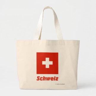 Schweiz Flagge mit Namen Tote Bags