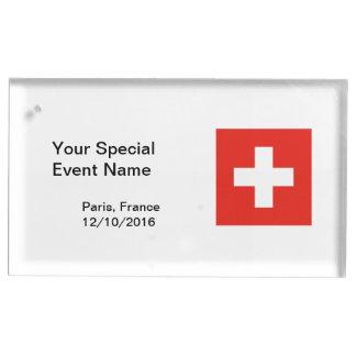 Schweizareflagga Bordskorthållare