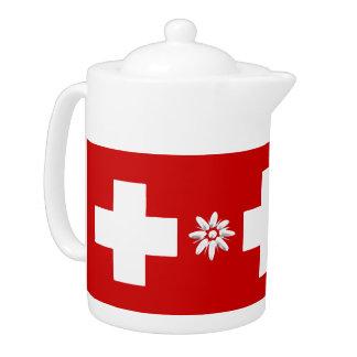 Schweizareflagga och edelweiss