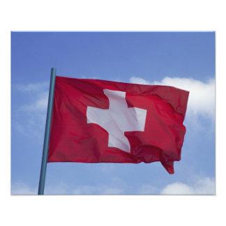 Schweizareflagga RF) Fotografiska Tryck