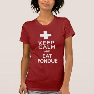 Schweizareparty! Håll lugnat och äta fonduen! T-shirt
