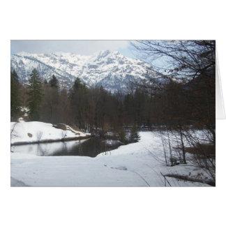 Schweizisk alperna hälsningskort
