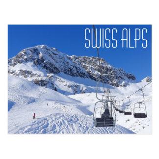 Schweizisk alperna, vykort vid bradhines