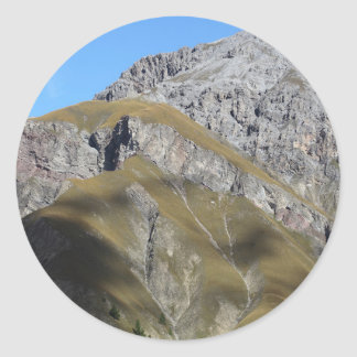 Schweizisk nationalpark runt klistermärke