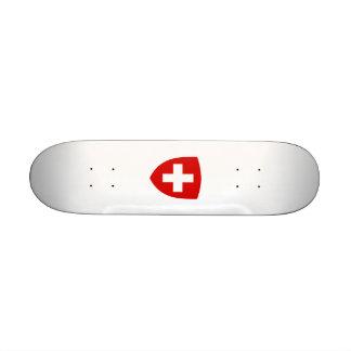 Schweizisk vapensköld - Schweitz souvenir Skateboard Decks