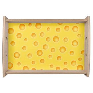 Schweiziskt mönster för ostCheezy struktur Frukostbricka