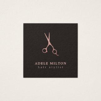 Scissors rosa guld för den Minimalist eleganten Fyrkantigt Visitkort