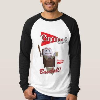 "Scolletta ""Cincinnati baseball!"", Lång Raglan T-shirt"