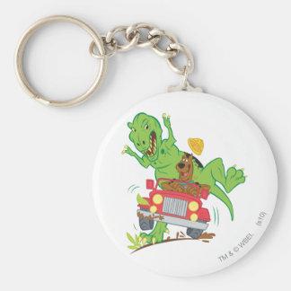 Scooby Doo Dinosaur Attack1 Rund Nyckelring