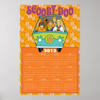 Scooby-Doo kalendern för gåtamaskin 2012 Poster