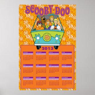 Scooby-Doo kalendern för gåtamaskin 2013 Poster