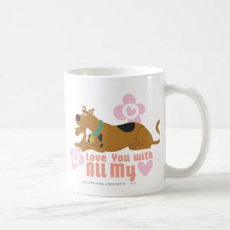 """Scooby Doo """"kärlek du med all min hjärta """", Kaffemugg"""