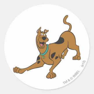 Scooby Doo poserar 39 Runt Klistermärke