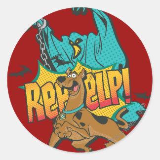 """Scooby Doo """"Reeeelp! """", Runt Klistermärke"""