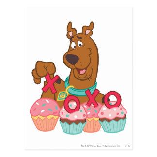 Scooby Doo - Scooby XOXO muffins Vykort
