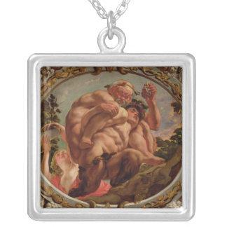 Scorpio från teckenet av zodiacen silverpläterat halsband