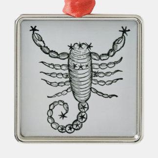 Scorpio (scorpionen) en illustration från 'pet julgransprydnad metall