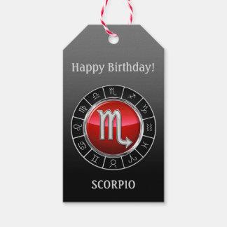 Scorpio - Scorpionzodiacen undertecknar Presentetikett