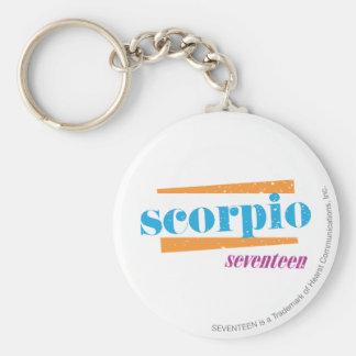 ScorpioAqua Rund Nyckelring