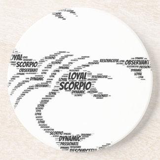 ScorpioastrologiZodiac undertecknar ordmolnet Underlägg Sandsten