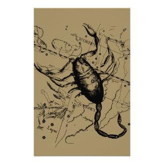 ScorpiokonstellationHevelius dekor 1690 Brevpapper