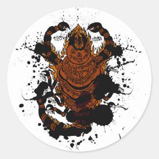 Scorpionberlock Runt Klistermärke