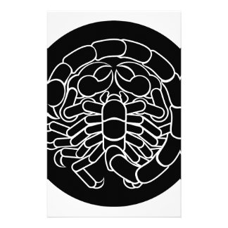 ScorpionScorpioZodiac undertecknar Brevpapper