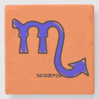 Scorpiosymbol Underlägg Sten