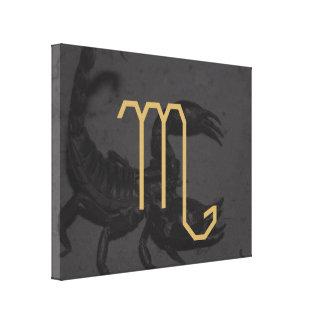 Scorpius Zodiac undertecknar | anpassadebakgrund Canvastryck