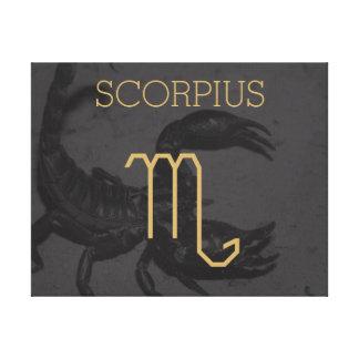 Scorpius Zodiac undertecknar | beställnings- Canvastryck