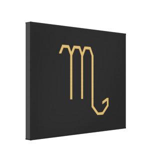 Scorpius Zodiac undertecknar grundläggande Canvastryck