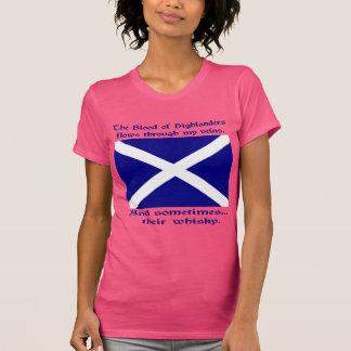 Scot Highlanderblod och Whisky T Shirts