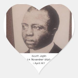 Scott Joplin Hjärtformat Klistermärke