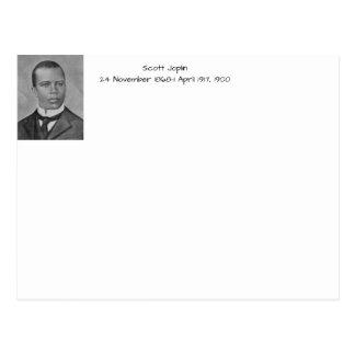Scott Joplin Vykort